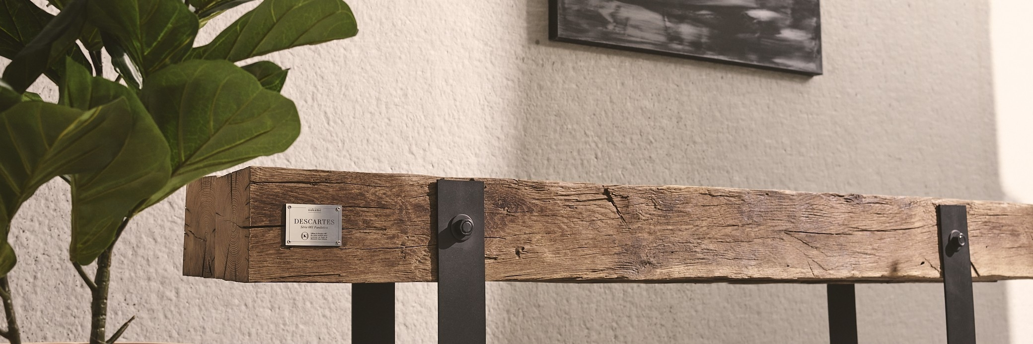 Rustic Indoor Wood Bench | Sustainable - Made in France | Oakâme