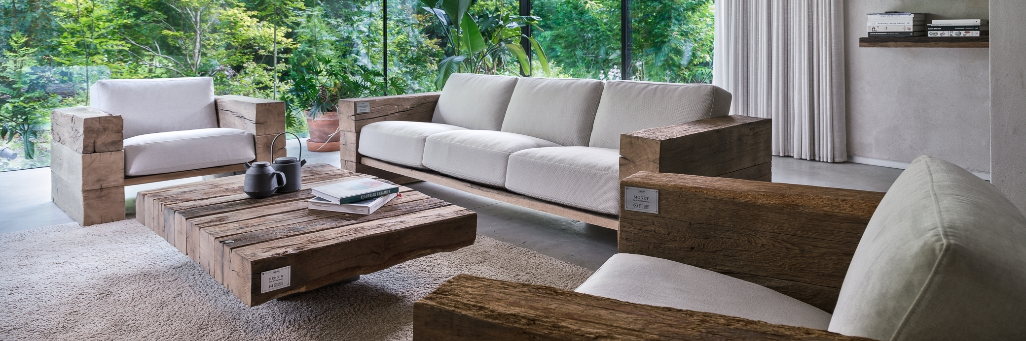Rustic Indoor Wooden Sofas | Sustainable - Made in France | Oakâme