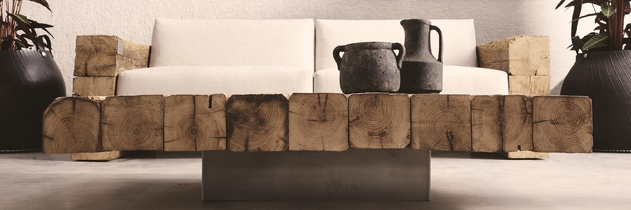 Tables basses en bois ancien - Oakâme