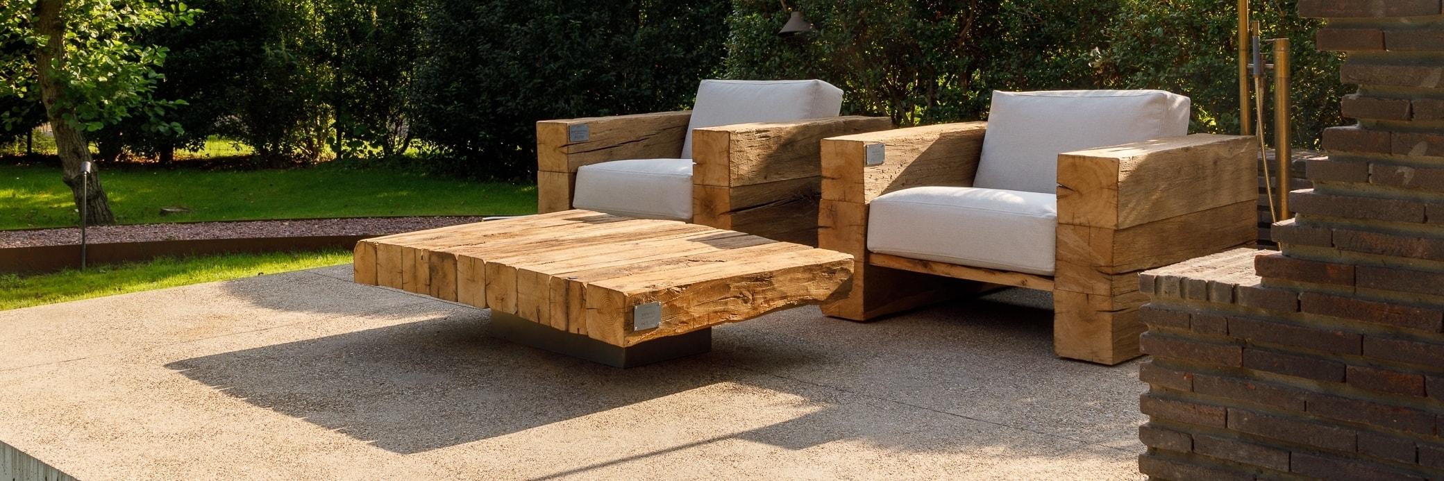Outdoor Oak Wooden Armchair   Made in France   Oakâme